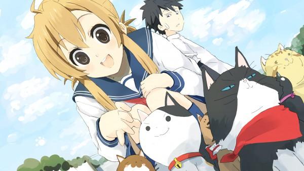 Tags: Anime, Nasuna, Nyan Koi!, Mizuno Kaede, Josephine, Nyamsus, Tama (Nyan Koi), Kousaka Junpei, Noir (Nyan Koi), HD Wallpaper, Pixiv, Wallpaper, Fanart From Pixiv