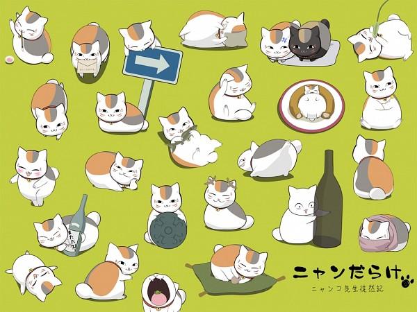 Tags: Anime, Pixiv Id 1600195, Natsume Yuujinchou, Kuro Nyanko, Nyanko-sensei, Stunned, Sake Bottle, Blank Stare
