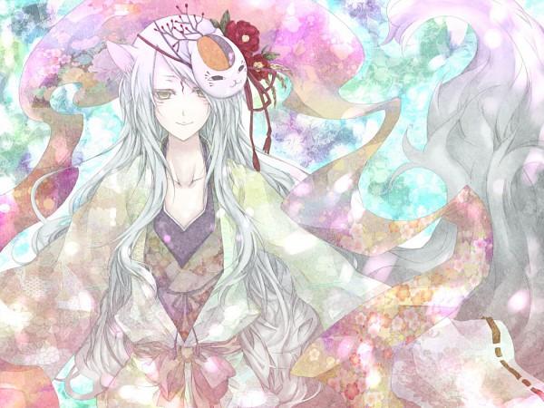 Tags: Anime, Pixiv Id 909798, Natsume Yuujinchou, Madara, Nyanko-sensei, Pixiv, Fanart
