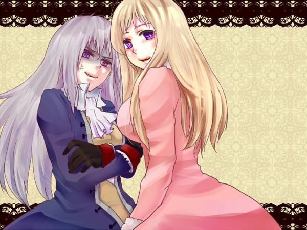 Tags: Anime, Axis Powers: Hetalia, Russia (Female), Prussia (Female), Breast Envy, Troll Face, Rage Comics, Jealousy, Nyotalia, Artist Request