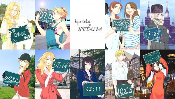 Tags: Anime, Bonkura, Axis Powers: Hetalia, China (Female), Germany (Female), South Italy (Female), Kumajirou, North Italy (Female), Japan (Female), United States (Female), France (Female), United Kingdom (Female), Canada (Female)