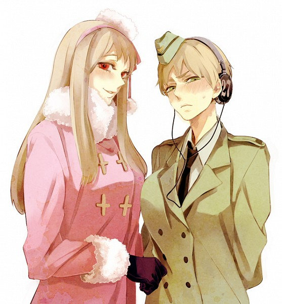 Tags: Anime, Hiroaki (angie), Axis Powers: Hetalia, Russia (Female), Germany (Female), Pixiv, Nyotalia
