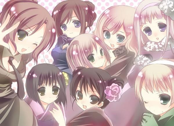 Tags: Anime, Apikapa, Axis Powers: Hetalia, France (Female), Russia (Female), United States (Female), Germany (Female), China (Female), United Kingdom (Female), North Italy (Female), Japan (Female), Pixiv, Nyotalia
