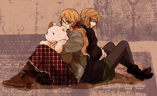 Tags: Anime, Koujisako, Axis Powers: Hetalia, Kumajirou (Female), United States (Female), Kumajirou, Canada (Female), Nyotalia, Allied Forces