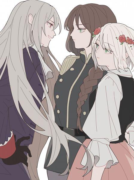 Tags: Anime, Pixiv Id 56346868, Axis Powers: Hetalia, Poland (Female), Lithuania (Female), Prussia (Female), Nyotalia, Pixiv, Fanart, Fanart From Pixiv
