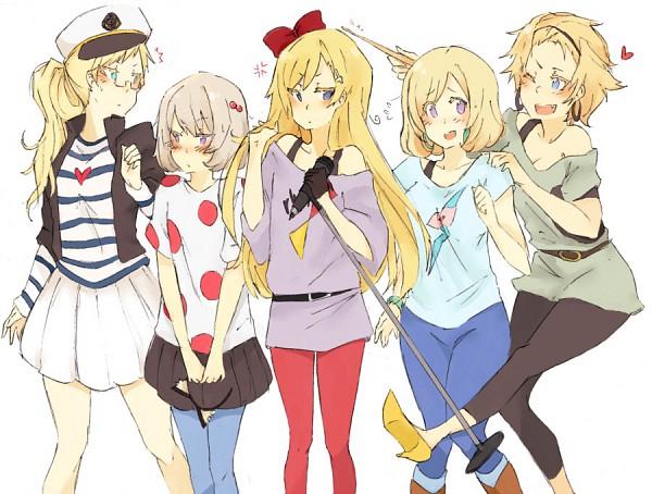 Tags: Anime, Akoyazukari, Axis Powers: Hetalia, Norway (Female), Iceland, Iceland (Female), Finland (Female), Denmark (Female), Sweden (Female), Hirasawa Yui (Cosplay), K-ON! (Parody), Kotobuki Tsumugi (Cosplay), Tainaka Ritsu (Cosplay)