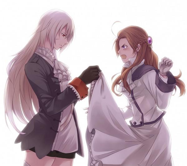 Tags: Anime, Oosugimichiko, Axis Powers: Hetalia, Prussia (Female), Austria (Female), Fanart, Nyotalia, Pixiv, Axis Power Countries