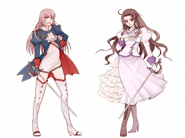 Tags: Anime, Axis Powers: Hetalia, Austria (Female), Prussia (Female), Rapier, Artist Request, Nyotalia