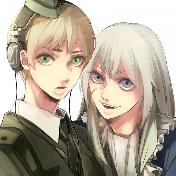 Tags: Anime, Hiroaki (angie), Axis Powers: Hetalia, Prussia (Female), Germany (Female), Nyotalia