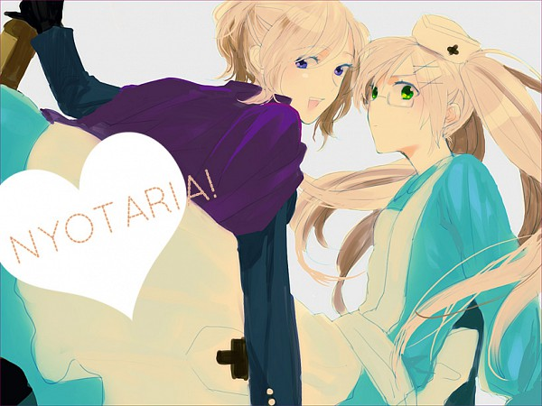 Tags: Anime, Ueda Niku, Axis Powers: Hetalia, United Kingdom (Female), Fanart, Nyotalia, Allied Forces