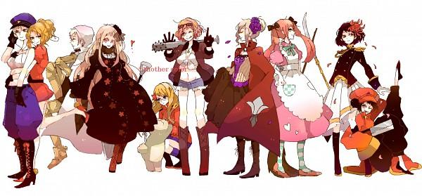 Tags: Anime, Mam233, Axis Powers: Hetalia, Japan (Female), Canada (Female), Germany (Female), United Kingdom (Female), China (Female), Prussia (Female), Kumajirou, North Italy (Female), France (Female), United States (Female)