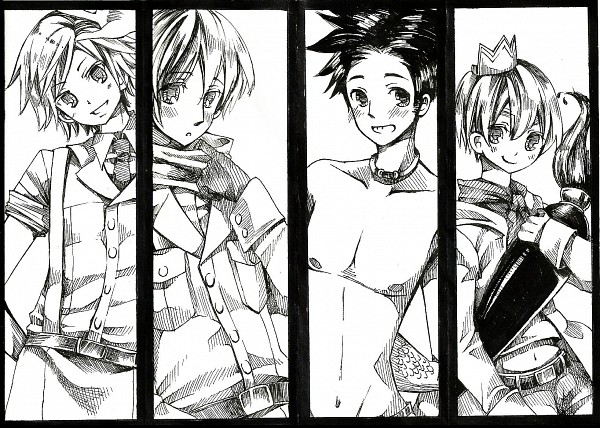 Tags: Anime, Q Chiang, Axis Powers: Hetalia, Principality of Wy (Male), Ukraine (Male), Belgium (Male), Seychelles (Male), Fanart, Nyotalia, Pixiv