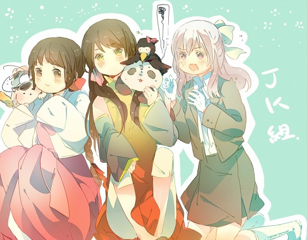 Tags: Anime, Kamitsuki, Axis Powers: Hetalia, Hong Kong (Female), Iceland (Female), Koreacat, South Korea (Female), Mr. Puffin, Puffin, Nekotalia, Fanart, Nyotalia, Asian Countries