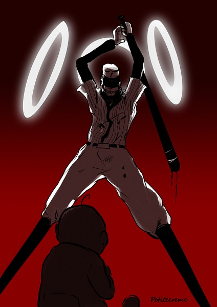 Tags: Anime, OFF (Game), Add-on (OFF), Hugo (OFF), The Batter, Baseball Uniform, Mobile Wallpaper