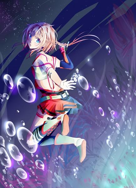 Tags: Anime, BlueFly-shi, VOCALOID, ONE (CeVIO), Bandeau Top, Strap Slip, Single Knee High Sock, Fanart, Mobile Wallpaper, Fanart From Pixiv, Pixiv