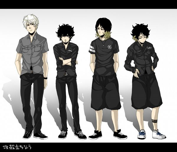 Tags: Anime, Pixiv Id 3009051, Ryota (One Ok Rock), Tomoya (One Ok Rock), Toru (One Ok Rock), Taka (One Ok Rock), Koukaku Kidoutai GHOST IN THE SHELL (Parody), Pixiv, Fanart, ONE OK ROCK