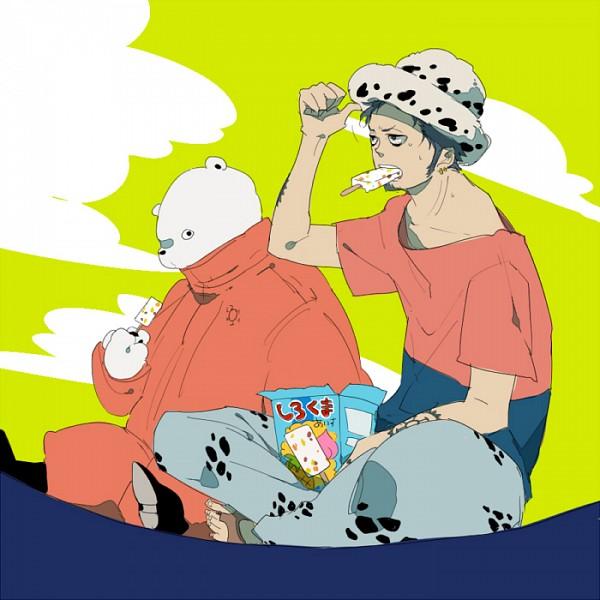 Tags: Anime, Pixiv Id 3106986, ONE PIECE, Trafalgar Law, Bepo, Polar Bear, The Eleven Supernovas, Heart Pirates