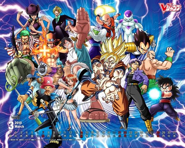 Tags: Anime, DRAGON BALL, ONE PIECE, DRAGON BALL Z, Tony Tony Chopper, Krillin, Franky, Frieza, Monkey D. Luffy, Sanji, Portgas D. Ace, Son Gohan, Vegeta