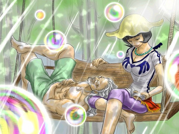 Tags: Anime, Pixiv Id 2453791, ONE PIECE, Shakky, Silvers Rayleigh, Pixiv, Fanart From Pixiv, Fanart