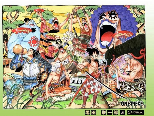 Tags: Anime, Oda Eiichirou, ONE PIECE, Mr. 3, Inazuma (ONE PIECE), Sir Crocodile, Buggy the Clown, Emporio Ivankov, Mr. 2 Bon Clay, Monkey D. Luffy, Daz Bones, Jinbei, Onigiri