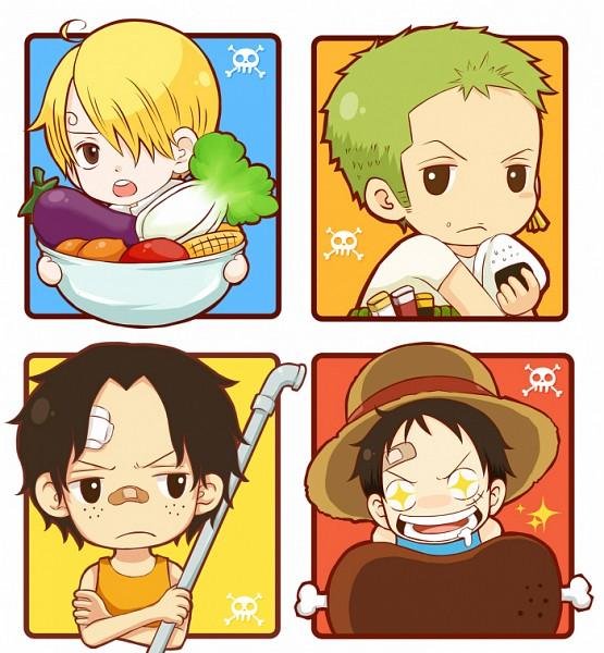 Tags: Anime, Raelraphael, ONE PIECE, Sanji, Portgas D. Ace, Monkey D. Luffy, Roronoa Zoro, Fierro, Onigiri, Meat, Pixiv, Fanart, Fanart From Pixiv