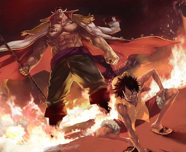 Tags: Anime, Pixiv Id 29685098, ONE PIECE, Whitebeard, Monkey D. Luffy, Red Pants, Pixiv, Yonkou, Whitebeard Pirates