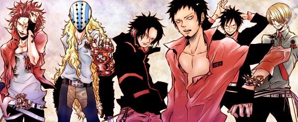 Tags: Anime, Amano Akira, ONE PIECE, Portgas D. Ace, Monkey D. Luffy, Killer (ONE PIECE), Sanji, Eustass Kid, Trafalgar Law, Vongola Gear, Facebook Cover