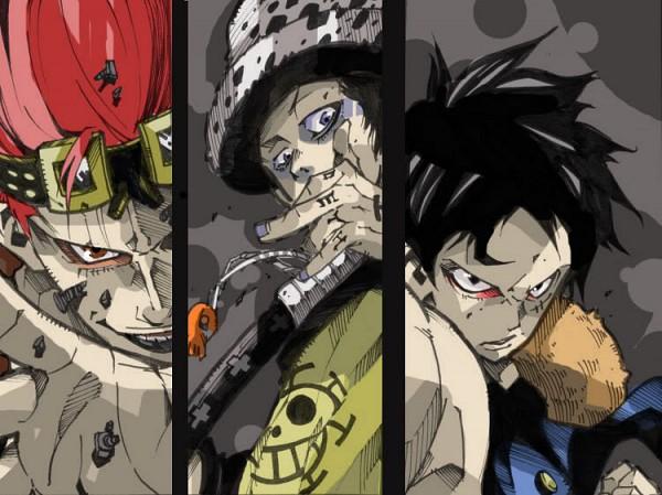 Tags: Anime, Pixiv Id 40439, ONE PIECE, Trafalgar Law, Monkey D. Luffy, Eustass Kid, Straw Hat Pirates, The Eleven Supernovas