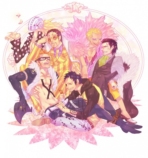 Tags: Anime, Pixiv Id 1329405, ONE PIECE, Trafalgar Law, Killer (ONE PIECE), Donquixote Doflamingo, Borsalino (ONE PIECE), Sir Crocodile, X Drake, Crocodile (Animal), Baroque Works, Shichibukai, The Eleven Supernovas