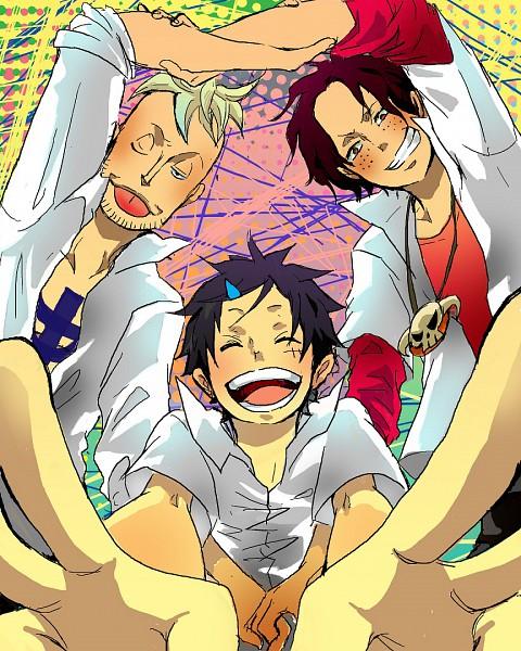 Tags: Anime, Daishou (Hiroto), ONE PIECE, Portgas D. Ace, Monkey D. Luffy, Marco (ONE PIECE), Straw Hat Pirates, Whitebeard Pirates