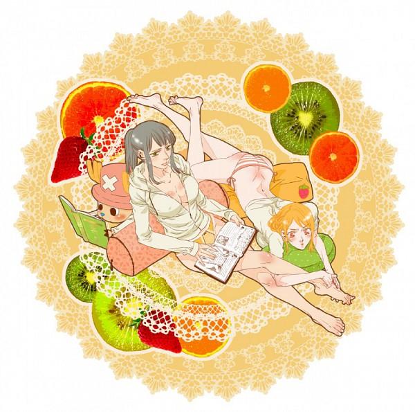 Tags: Anime, Pixiv Id 2409619, ONE PIECE, Nico Robin, Nami (ONE PIECE), Tony Tony Chopper, Kiwi (Fruit), Straw Hat Pirates