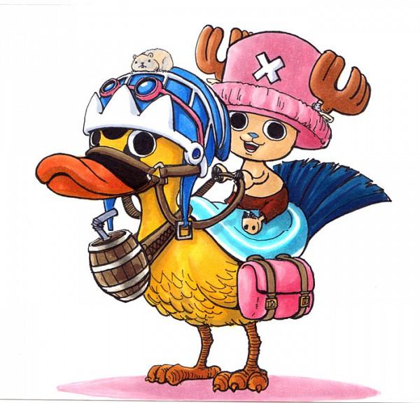 Tags: Anime, ONE PIECE, Tony Tony Chopper, Bird Riding, Karoo, Straw Hat Pirates