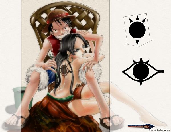 Tags: Anime, ONE PIECE, Boa Hancock, Monkey D. Luffy, Ama Kakeru Ryuu No Hizume, Artist Request