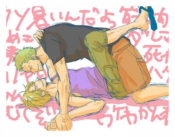 Tags: Anime, ONE PIECE, Roronoa Zoro, Sanji, Artist Request, ZoSan