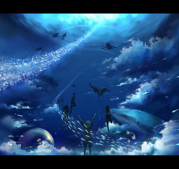 Tags: Anime, Megatruh, ONE PIECE, Roronoa Zoro, Nico Robin, Tony Tony Chopper, Franky, Monkey D. Luffy, Sanji, Usopp, Nami (ONE PIECE), Brook, Whale