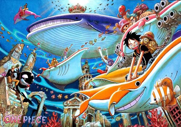 Tags: Anime, Oda Eiichirou, ONE PIECE, Color Walk 5 - Shark, Usopp, Nami (ONE PIECE), Roronoa Zoro, Nico Robin, Tony Tony Chopper, Franky, Monkey D. Luffy, Sanji, Reindeer