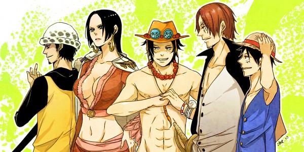 Tags: Anime, Shaoling, ONE PIECE, Monkey D. Luffy, Trafalgar Law, Boa Hancock, Portgas D. Ace, Shanks, Chest, Facebook Cover