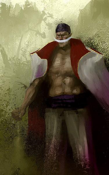 Tags: Anime, Lakkae (Artist), ONE PIECE, Whitebeard, Gold Trim, Red Coat, Whitebeard Pirates