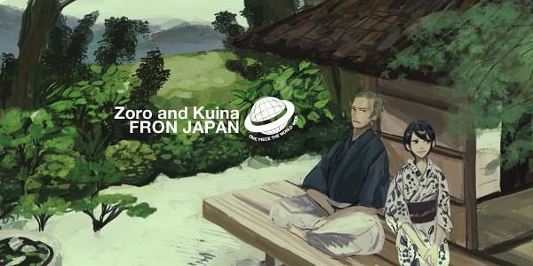 Tags: Anime, Pixiv Id 182716, ONE PIECE, Roronoa Zoro, Kuina, Fanart, Fanart From Pixiv, Pixiv, Pray For Japan, The Eleven Supernovas, Straw Hat Pirates