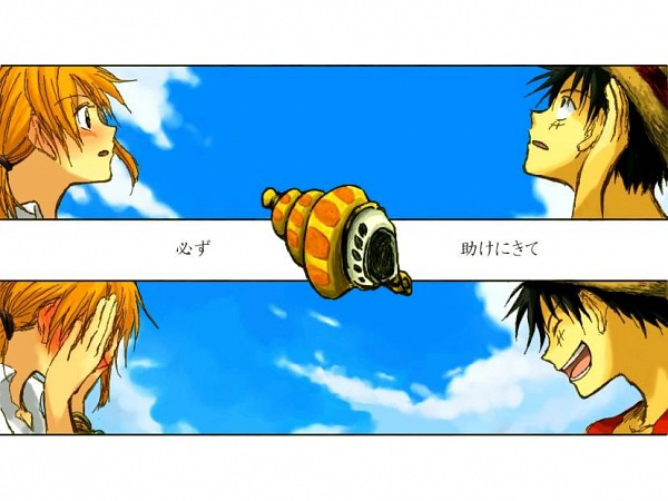 Tags: Anime, ONE PIECE, Monkey D. Luffy, Nami (ONE PIECE), Covering Face, LuNa (Pairing)