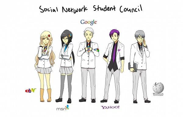 Tags: Anime, Jacket (Pixiv115077), Google-tan, Yahoo!-Tan, Msn-tan, Ebay-tan, Wikipedia-tan, Ebay, Google Logo, Yahoo, OS-tan, Wikipedia, Msn