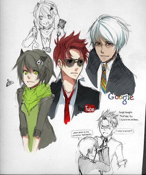 Tags: Anime, Hika (Oldzio), deviantART-tan, Google-tan, Youtube-tan, Google Logo, OS-tan, Sketch, Mobile Wallpaper, Tumblr, Google