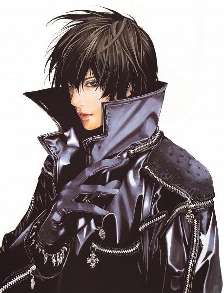 Tags: Anime, Obata Takeshi, Blanc et Noir, Leather Clothes, Leather Jacket, Scan, Original, Official Art