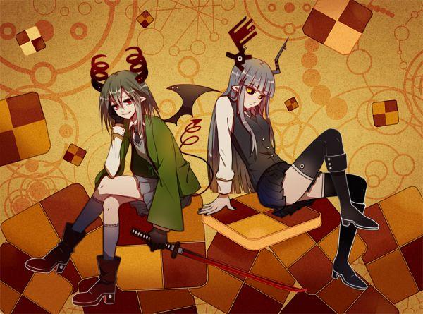 Tags: Anime, MaJiang, Obsolete Dream, Hanten (Obsolete Dream), Kurotsuno, Fanart From Pixiv, Pixiv, Fanart