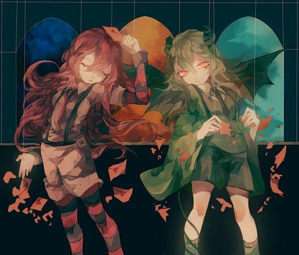 Tags: Anime, Pixiv Id 4154796, Obsolete Dream, Met (Obsolete Dream), Hanten (Obsolete Dream), Love Letter, Pixiv