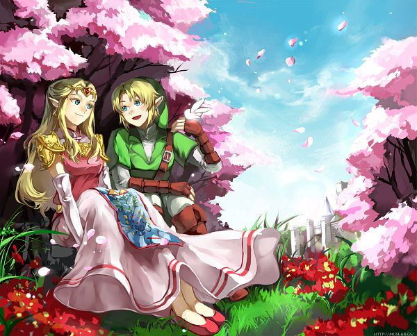 Tags: Anime, Muse (Rainforest), Zelda no Densetsu, Ocarina of Time, Zelda (Toki no Ocarina), Navi, Link (Toki no Ocarina), Fanart, Fanart From DeviantART, deviantART