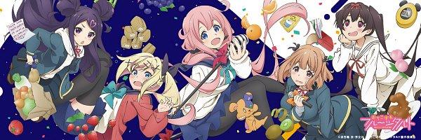 Tags: Anime, Kinoshita Sumie, Feel (Studio), Ochikobore Fruit Tart, Maehara Nina, Nukui Hayu, Sekino Roko, Sakura Ino, Midori Hemo, Blueberry, Kiwi (Fruit), Peach (Fruit), Curry, Dropout Idol Fruit Tart
