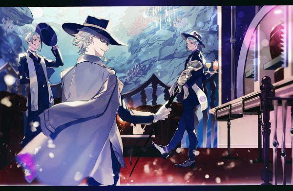 Tags: Anime, Pixiv Id 16963229, Twisted Wonderland, Floyd Leech, Jade Leech, Azul Ashengrotto, Fanart From Pixiv, Pixiv, Fanart, Octavinelle