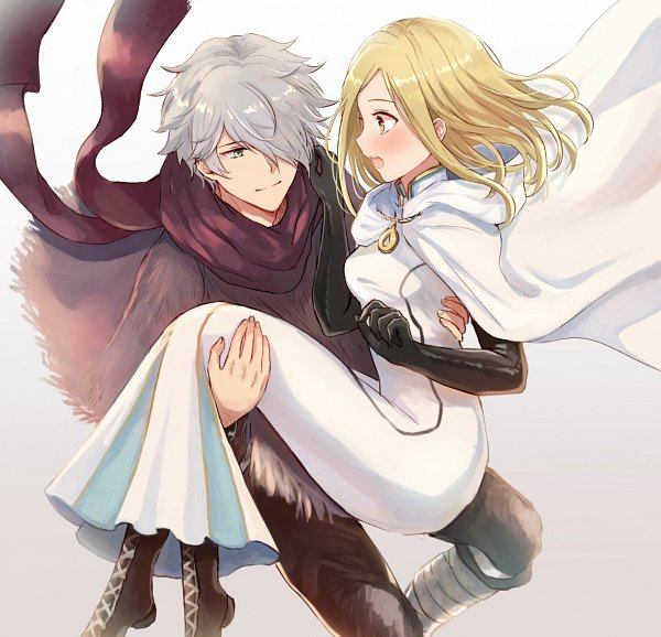 Tags: Anime, Wspread, Octopath Traveler, Ophilia Clement, Therion (Octopath Traveler), Poncho, Twitter, Fanart
