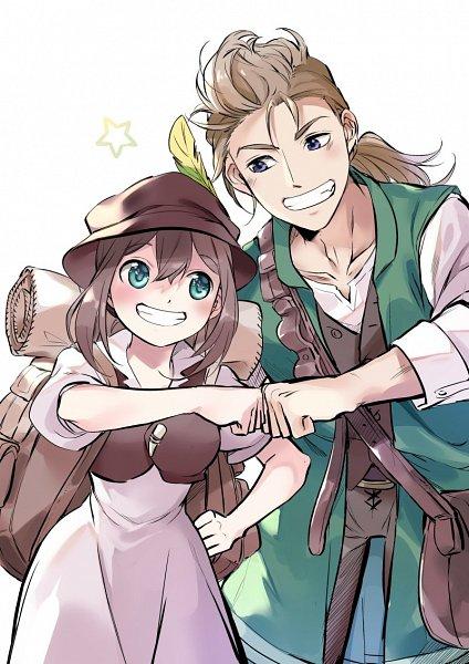 Tags: Anime, Oboro Keisuke, Octopath Traveler, Tressa Colozone, Alfyn Greengrass, Twitter, Fanart